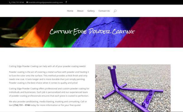Cutting Edge Powder Coating by WP3 Web Design